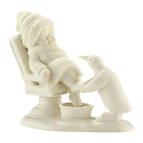 Department 56 Snowbabies Classics Day at the Spa Figurine, 4.5 inch