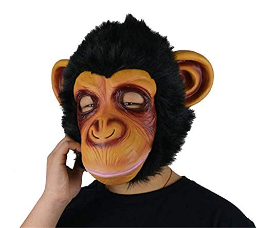 Pavian Monkey Halloween Costume Latex Funny Gorilla Chimp Orangutan Mask Animal Mask -