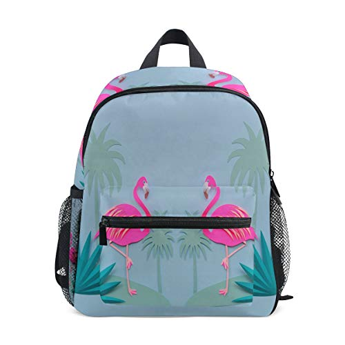 Mini Backpack Flamingos And Palm Trees Love Small Bag Daypack Lightweight