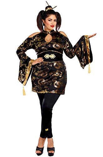 Golden Geisha Adult Costume - Plus Size -