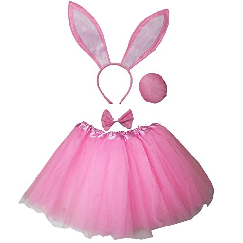 Toddler Bunny Rabbit Halloween Costume (Kirei Sui Kids Costume Tutu Set Pink)