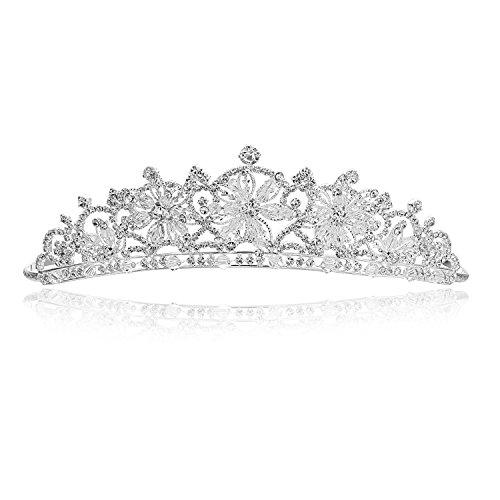 Handmade Snowflake Rhinestone Crystal Bridal Tiara Crown T914]()