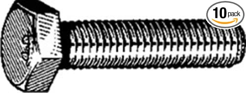 10 6-1.0 X 30mm DIN 933 Cap Screws Class 8.8 Zinc Clipsandfasteners Inc