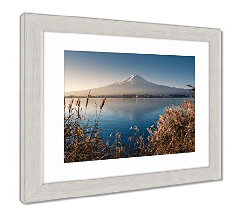 Mountain Fuji in Morning from Lake Kawaguchiko, Wall Art Home Decoration, Color, 34x40 (Frame Size), Silver Frame, AG5910127 ()