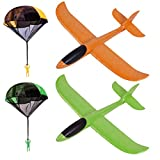 Foam Airplane Parachute For Kids - Nylon Material