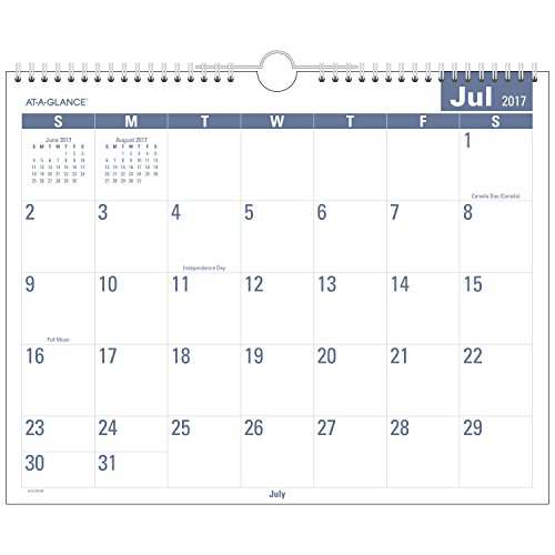Acco AT-A-GLANCE Academic Monthly Wall Calendar, Easy to ...