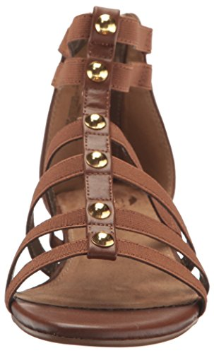 Aerosoles Mujeres Awesome Wedge Sandal Dark Tan Combo