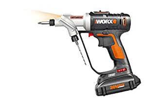 WORX Switchdriver 2-in-1 Cordless Drill and Driver with Rotating Dual Chucks and 2-Speed Motor with Precise Electronic Torque Control - WX176L