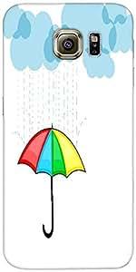 Snoogg Lluvias Fondo Abstracto Temporada Con Nubes Diseñador Protectora Volve...