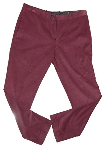 Bar III Men's Dress Pants Carnaby Collection Corduroy Slim Fit (36Wx32L, Wine)