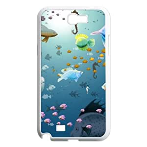 Samsung Galaxy N2 7100 Cell Phone Case White Underwater Shoal of fish LSO7872366