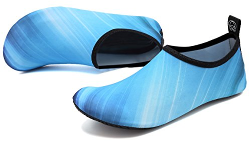 Exercise for Barefoot Swim Men adituo Beach and Change Sports Water Shoes Aqua Pool Women Socks Blue 4qzavqRx