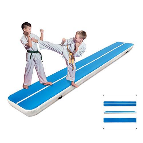 Popsport Gymnastics Mats Tumbling Mat Series Air Floor Mat Gymnastics Tumbling Mats for Gymnastics Training (7X1X0.2M)