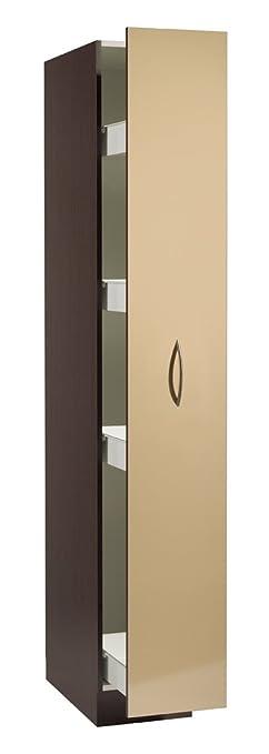 seitenschrank apothekerschrank lugano (farbe: front hochglanz ... - Seitenschrank Küche