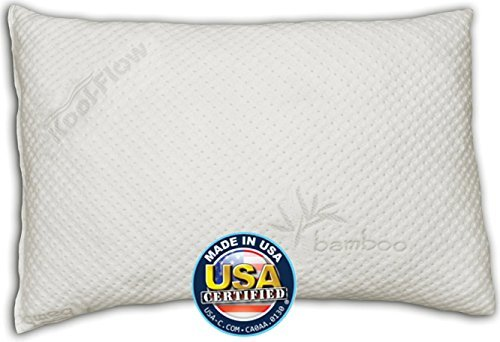 Snuggle-Pedic Toddler and Kids Pillow | Kool-Flow Ultra Luxury Bamboo Cover With Shredded Memory Foam | All U.S.A. Made | Fits Children For Bed Sleeping, Reading and Travel by Snuggle-Pedic
