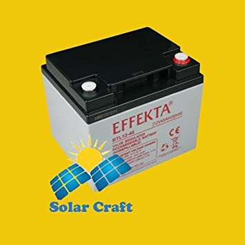 Gel de Batería 12 V 45 Ah AGM Panel Solar cargador Energía ...