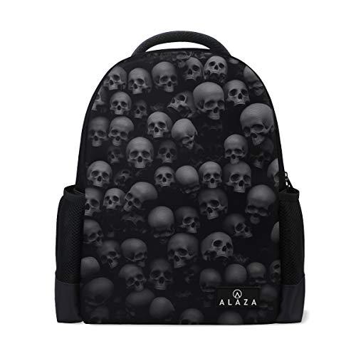 Backpack Skull Many Death Mens Laptop Backpacks Shoulder Hiking Daypack ()