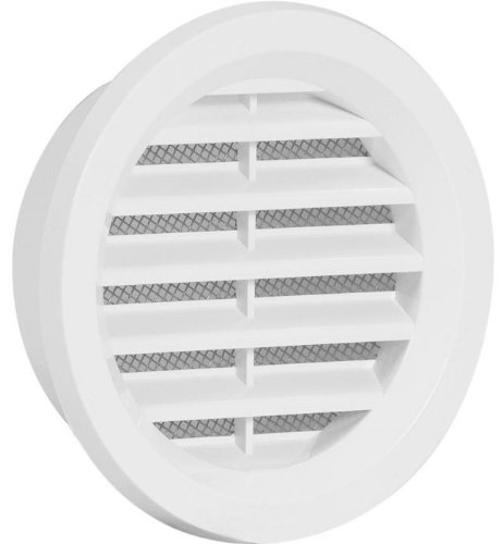 Access Panels UK Mini Circle Air Vent Grille Cover 70Mm(2.75Inch) Ducting White Ventilation Cover Asa Plastic (Circle Air)