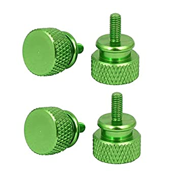 uxcell Computer PC Case M3x7mm Aluminum Alloy Knurled Thumb Screws Green 4pcs