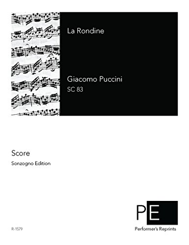 La Rondine - Vocal Score by Performer's Edition