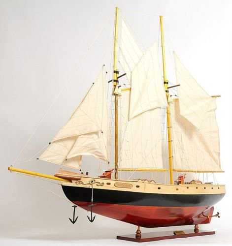 Schooner Bluenose Ii Wood Ship Model Sailboat 38