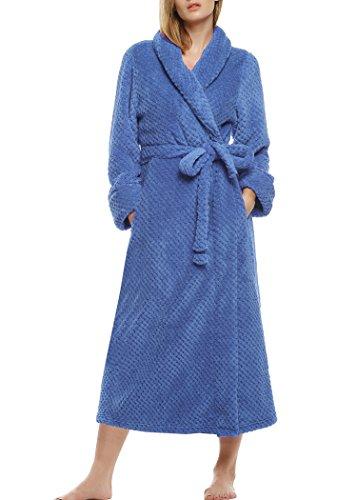 Ekouaer Womens Microfiber Bathrobe Loungewear
