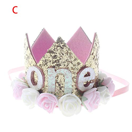 OrchidAmor Children's Rose Crown Digital Hair Band Baby Princess Prince Tiara Crown Headband Hats Birthday Party Hat Birthday Crown 2019 New Fashion