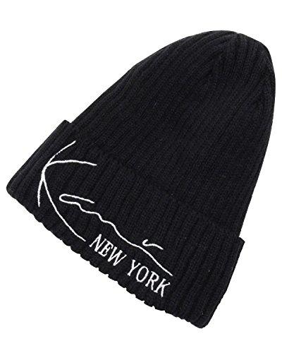 ナイトスポット塩みぞれ(カールカナイ ゴルフ) KarlKani GOLF 帽子 シンサレート ニットキャップ 173KG8706 ブラック Fサイズ