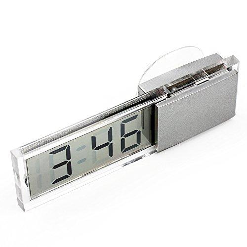 Auto Armaturenbrett Windschutzscheibe Ornament Mini Uhr mit Sucker LCD Display NOPNOG