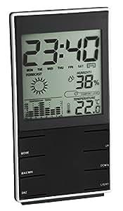 TFA Dostmann 35.1102.01 - Estación meteorológica digital, color negro