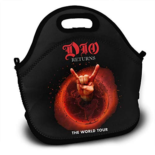 Ronnie James DIO American Heavy Metal Singer Lunch Bags Boxes For Men Women Children Kid Adults Toddler Nurses