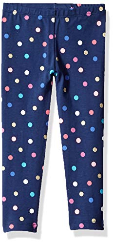 Osh Kosh Girls' Toddler Full Length Legging, Navy Dot, 3T