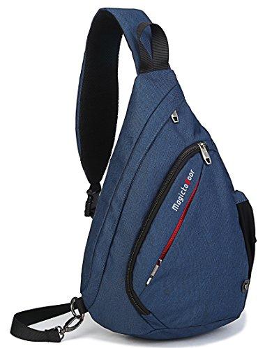 Sling Bag Chest Shoulder Backpack Crossbody Multipurpose Daypack Bagtrip BT01 (11.8L 5.1W 18.7H inch, Blue)