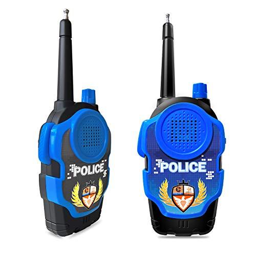 Mideand Walkie Talkies for Kids, Long Range FRS 2 Way Radio Toys, Boys and Girls Handheld Mini Walkie Talkies Role Play Toys (Blue)