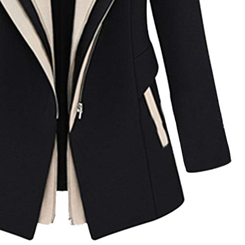 Amazon.com: Besde Womens Fake Two-Piece Stitching Work Suit Long Sleeve Office Removable Hooded Coat Jacket Blazer Jacket: Home & Kitchen
