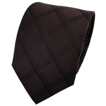 TigerTie diseñador corbata de seda - marrón marrón oscuro color ...
