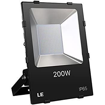 LE 200W Super Bright Outdoor LED Flood Lights 22000 Lumen, Daylight White, 5000K, 600W HPSL Equivalent Security Lights, Floodlight (ETL Listed)
