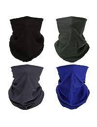 Bandana elástica para la cabeza, media cara, bufanda, cuello, protección solar UV, 4x Black Blue Gray Army-green Face Mask, Una talla