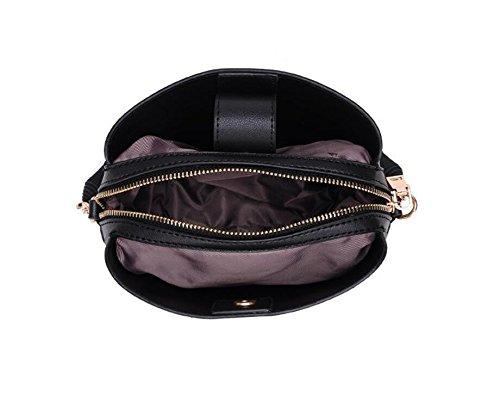 Bolsa Señora Paquete Negro Color Diagonal De Fang La Borla GWQGZ Nuevo 1xqFv5Pp
