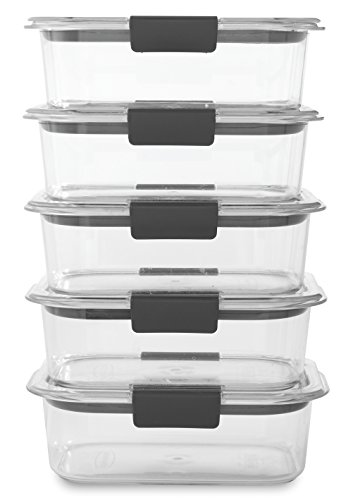 Rubbermaid Brilliance Food Storage Container, BPA free
