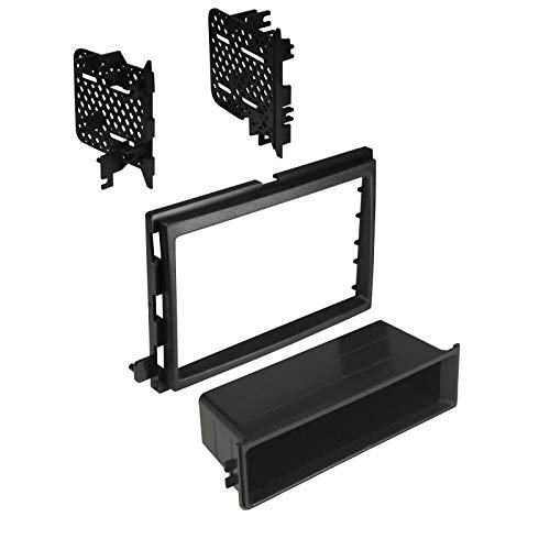 (Carxtc Stereo Install Dash Kit Single or Double Din Fits Ford F-250 (2013-2016), Ford F-350 (2013-2016), Ford F-450 (2013-2016) Classic Style Dash Only)