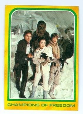 - Han Solo Princess Leia Chewbacca Luke Skywalker Star Wars 1980 Topps trading card #328 Empire Strikes Back jc