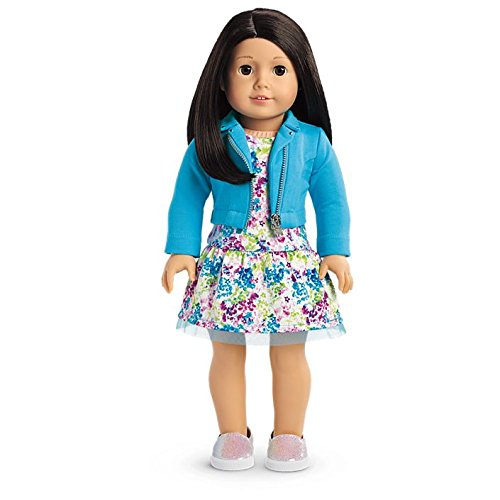 American Girl - 2017 Truly Me Doll: Light Skin, Black-Brown Hair, Brown Eyes - Brown Haired Girl