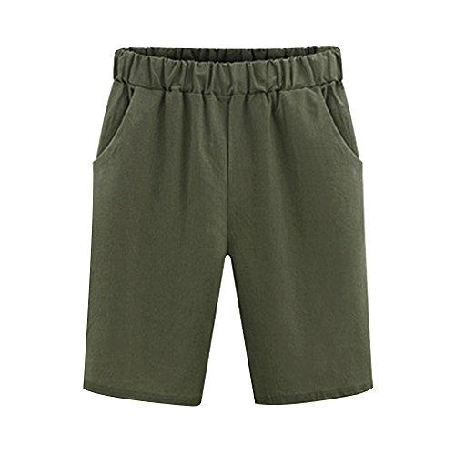 - Women's Elastic Waist Casual Knee Length Bermuda Shorts Army Green Tag 5XL-US 16