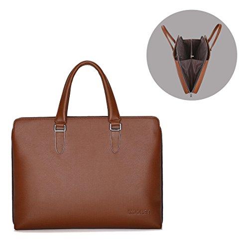 Us Expandable Luggage Briefcase (Business Briefcase Bag, Expandable Leather Briefcase for Men, 17 Inch Laptop Shoulder Messenger Bag)