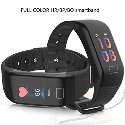 Fitness Tracker, Activity Watch for Heart Rate Monitor Oxygen Blood Pressure iphone Android Step Sleep Calorie Counter Pedometer, IP67 Waterproof Color Screen Smart Band for Kids Women Men ()