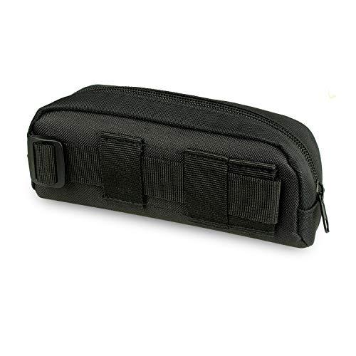 Tactical Molle Portable Sunglasses Case Eyeglasses Bag Outdoor Glasses Pouch (Black)