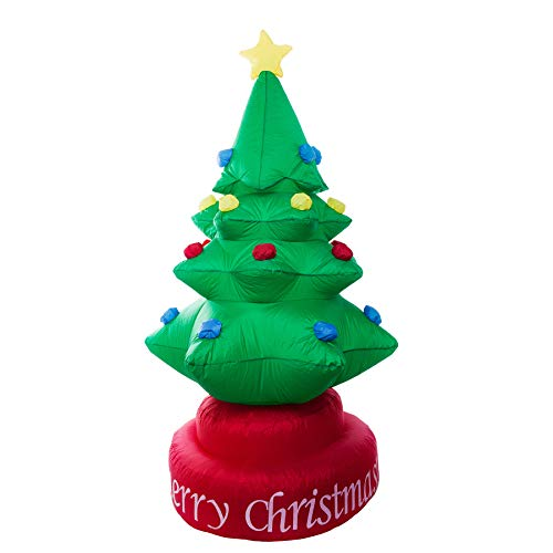 Athoinsu 7ft Lighted Rotated Christmas Tree Inflatable Self Inflating LED Airblown Xmas Holiday Home Indoor/Outdoor Yard Lawn Decoration Party Supply Gift for Kids Family