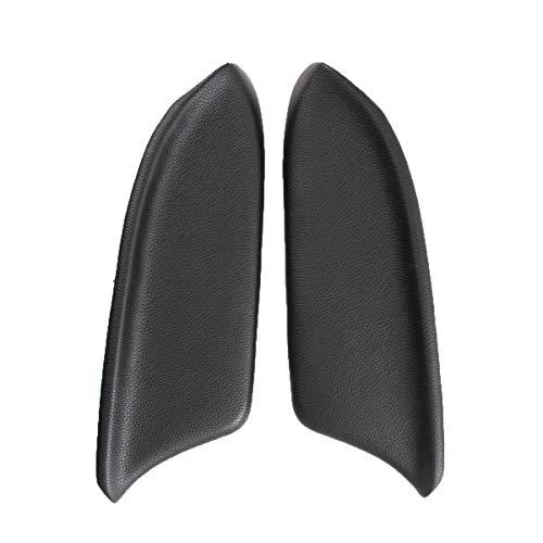 MOTOALL 1 Pair (Left & Right) Black Auto Car Vinyl Leatherette Front Door Panels Armrest Lid Console Pad Handle Cover & Base Plate for 2008-2012 Honda Accord Sedan