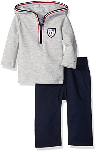 tommy-hilfiger-baby-hooded-half-zip-top-with-pants-set-gray-18-months